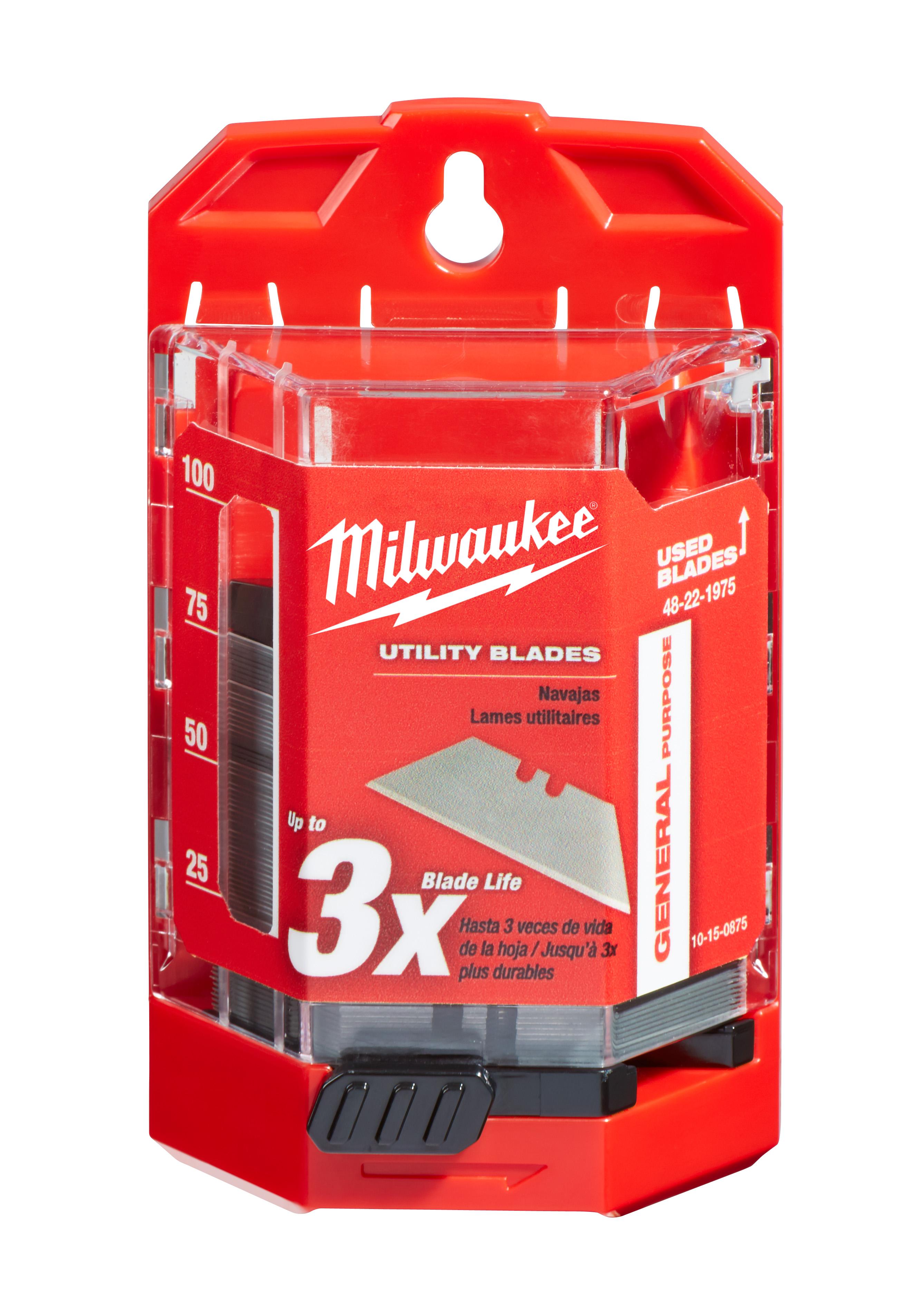 Milwaukee 48-22-1975 75-Piece General Purpose Utility Blades w/ Dispenser