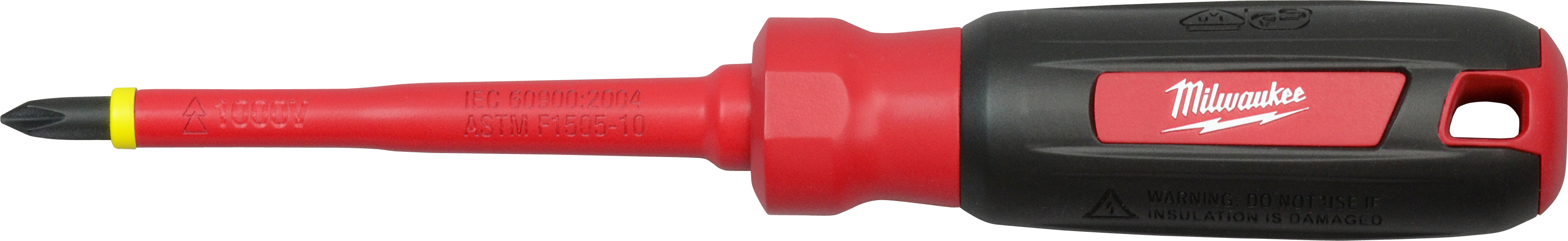 "Milwaukee 48-22-2212 #2 Phillips - 4"" 1000 V Insulated Screwdriver"