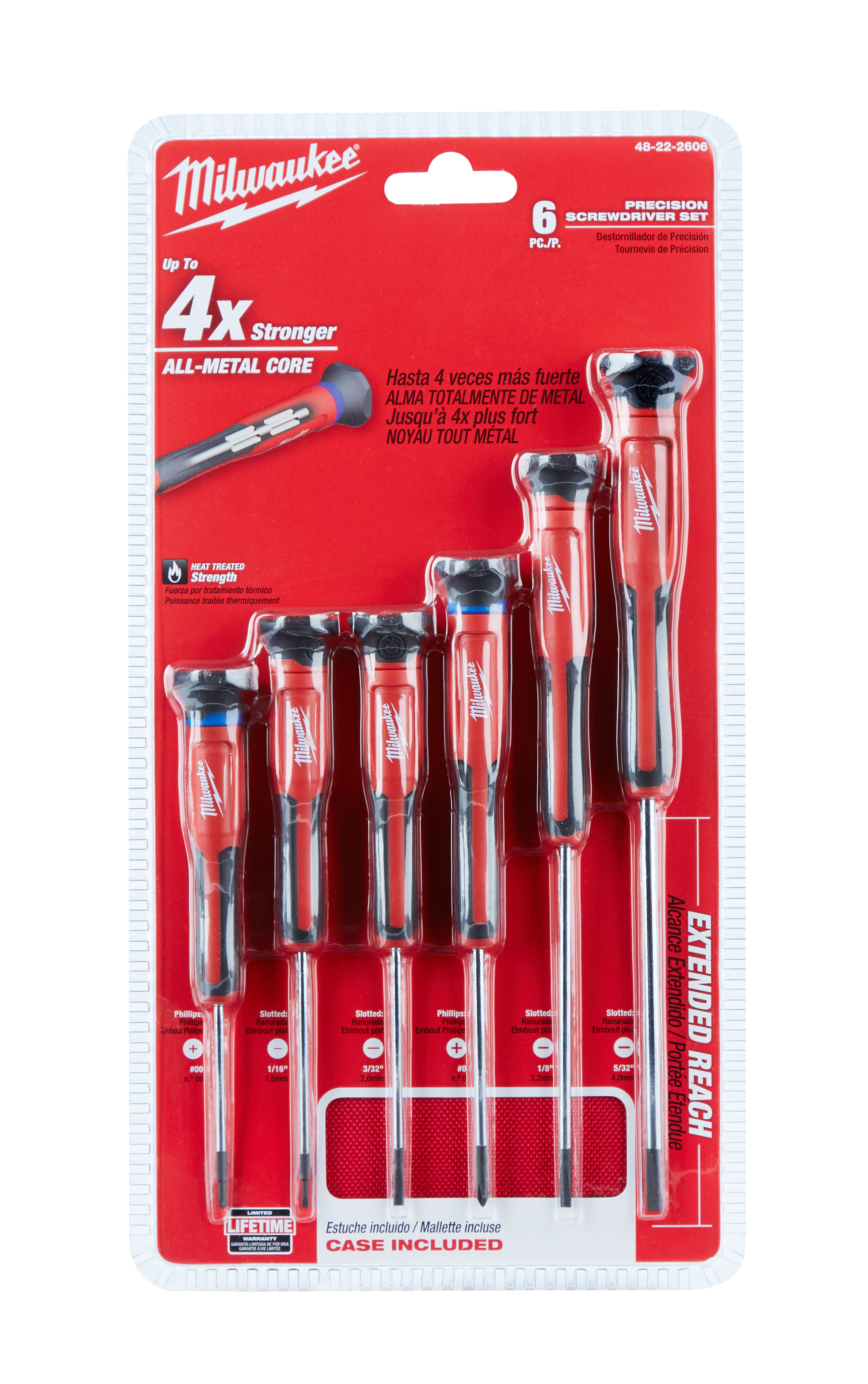 Milwaukee 48-22-2606 6pc Precision Screwdriver Set