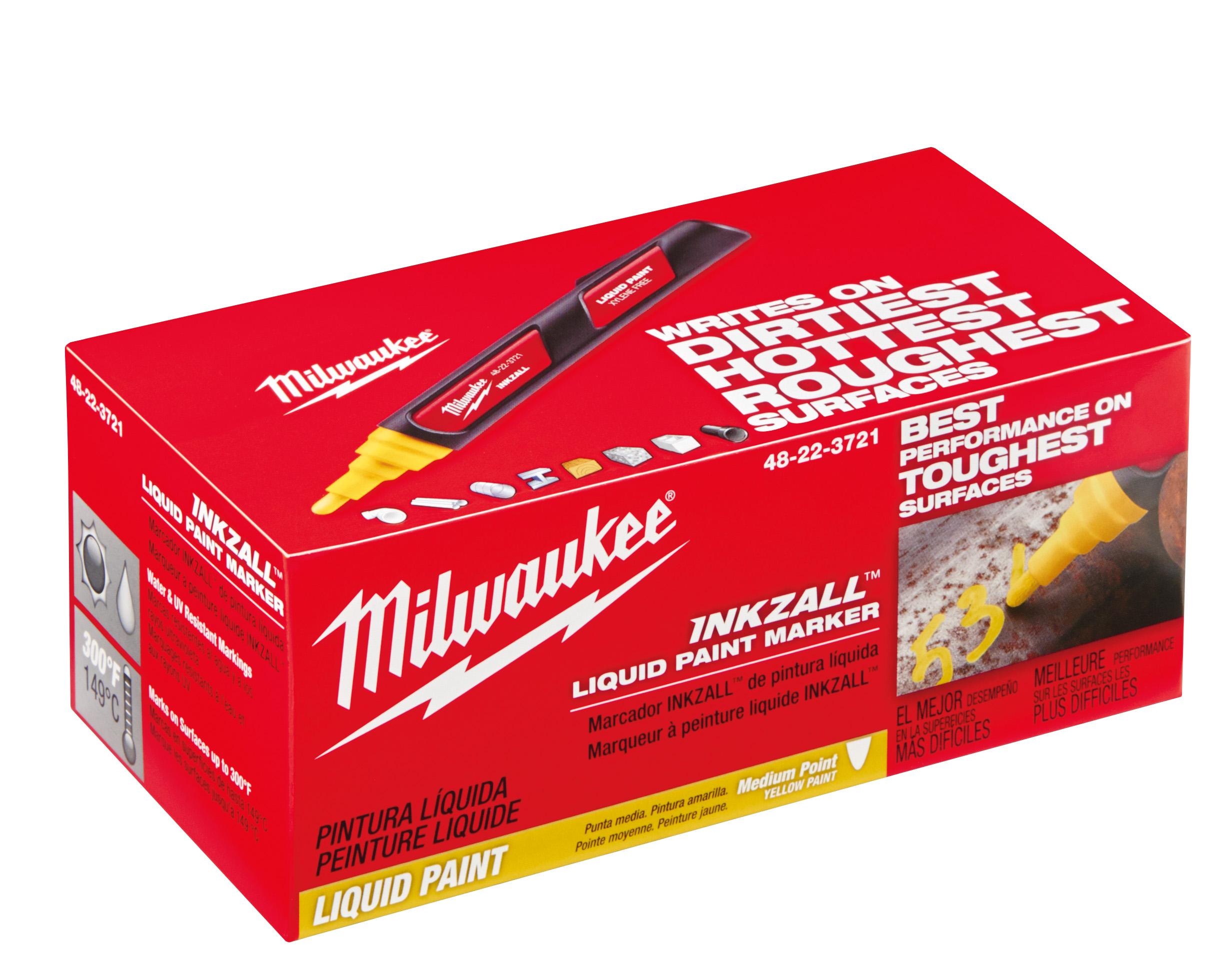 Milwaukee 48-22-3721 INKZALL™ Yellow Paint Marker (12)