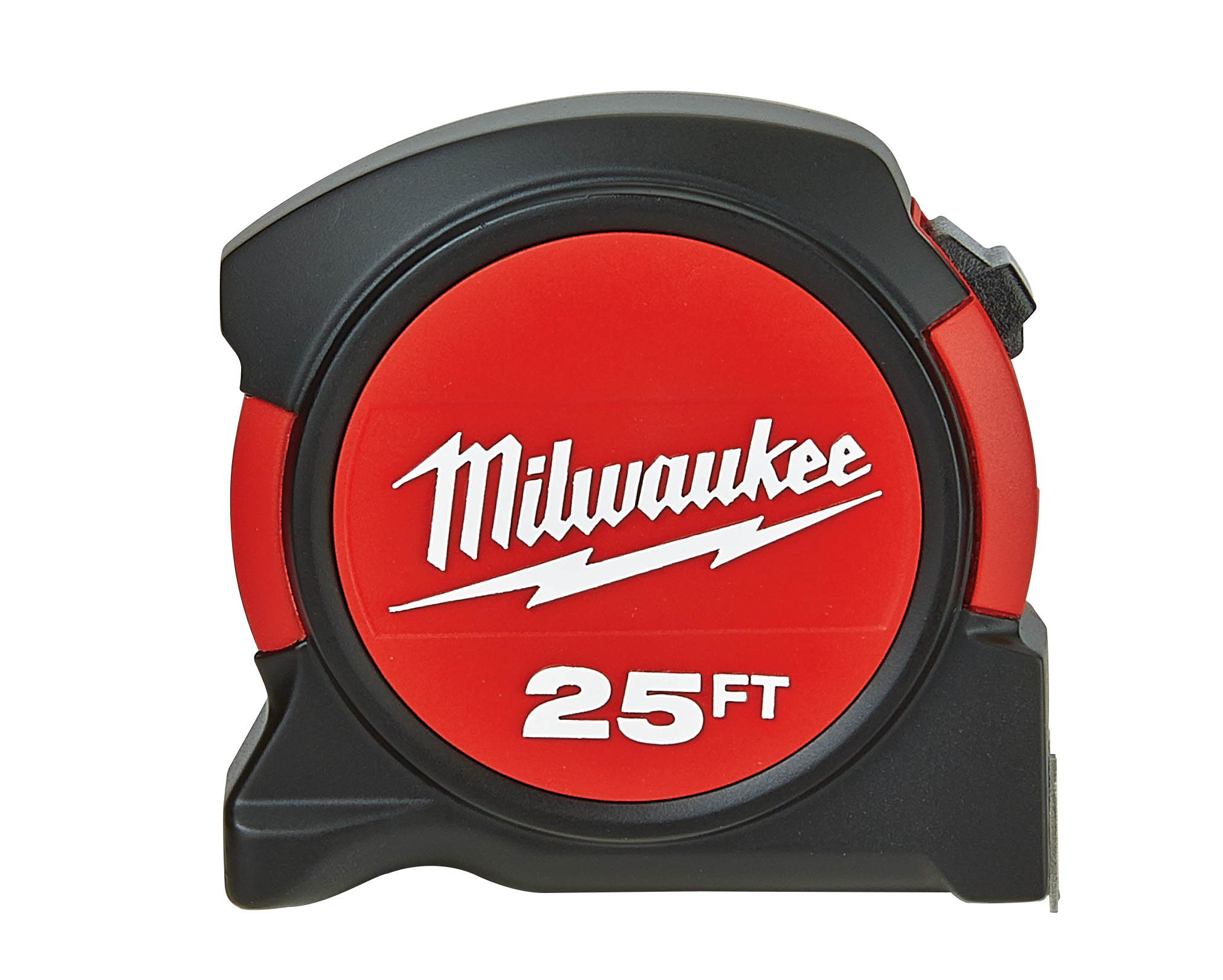 Milwaukee® 48-22-5525B General Contractor's Measuring Tape With Belt Clip, 25 ft L x 2-1/4 in W Blade, Steel, Imperial