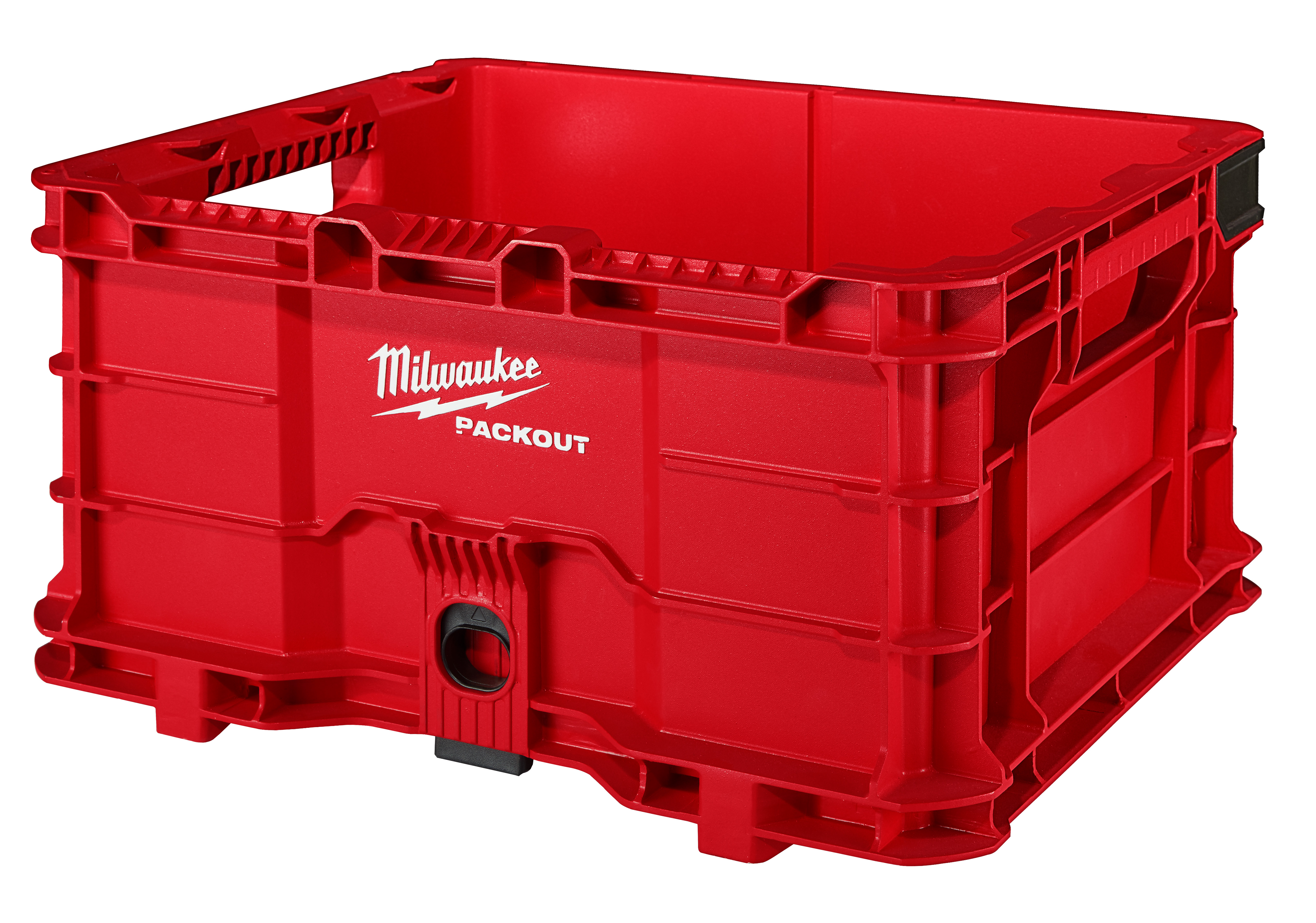 Milwaukee® 48-22-8440 Hang/Stack Crate, 9.9 in H x 18.6 in W x 15.4 in D, Plastic, Red