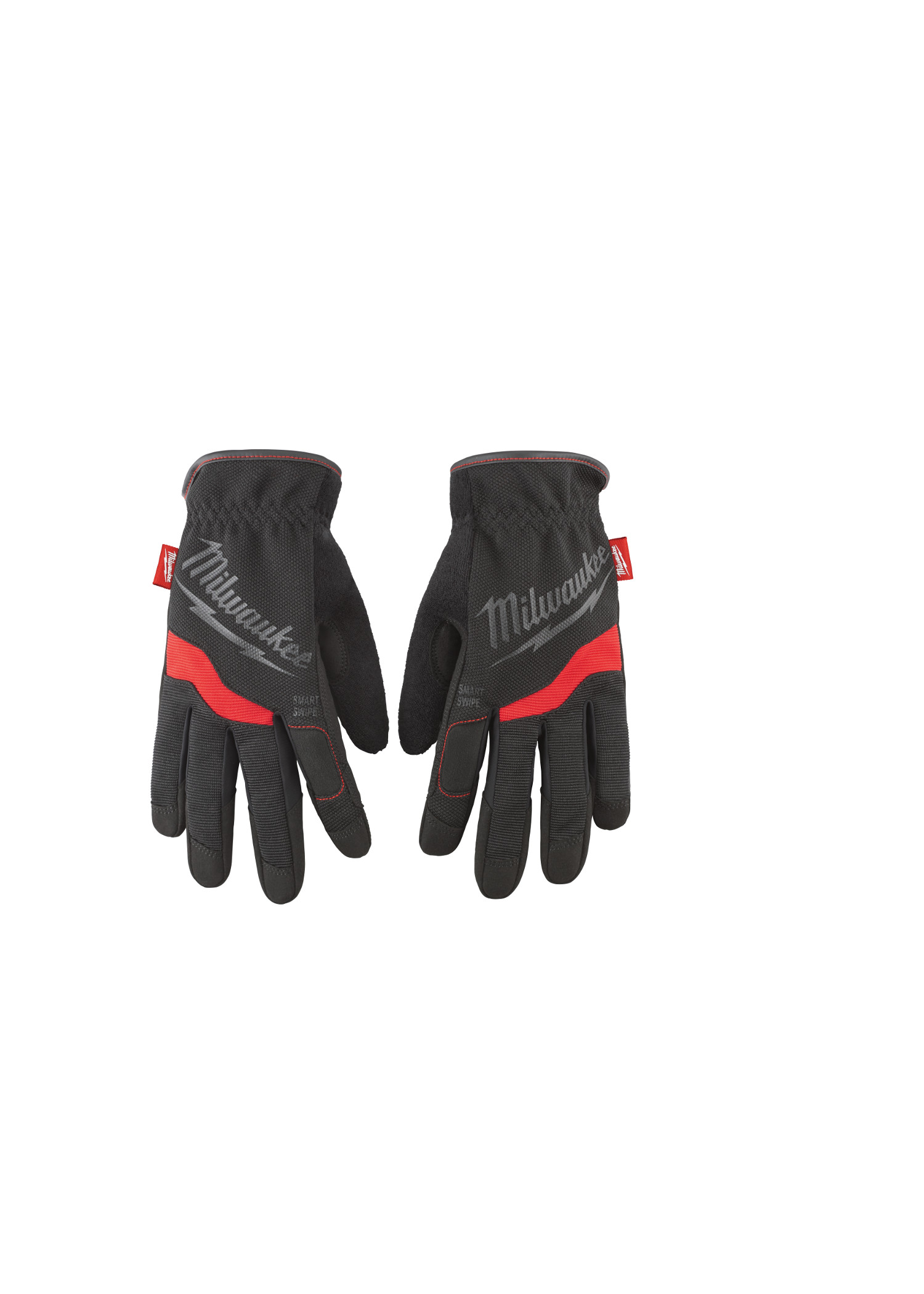 Milwaukee® 48-22-8713 General Purpose Slip-On Work Gloves, Slip-On, High Dexterity Finger Tip Style, XL, Synthetic Leather, Black/Red, Free Flex Elastic Cuff, Breathable Lining