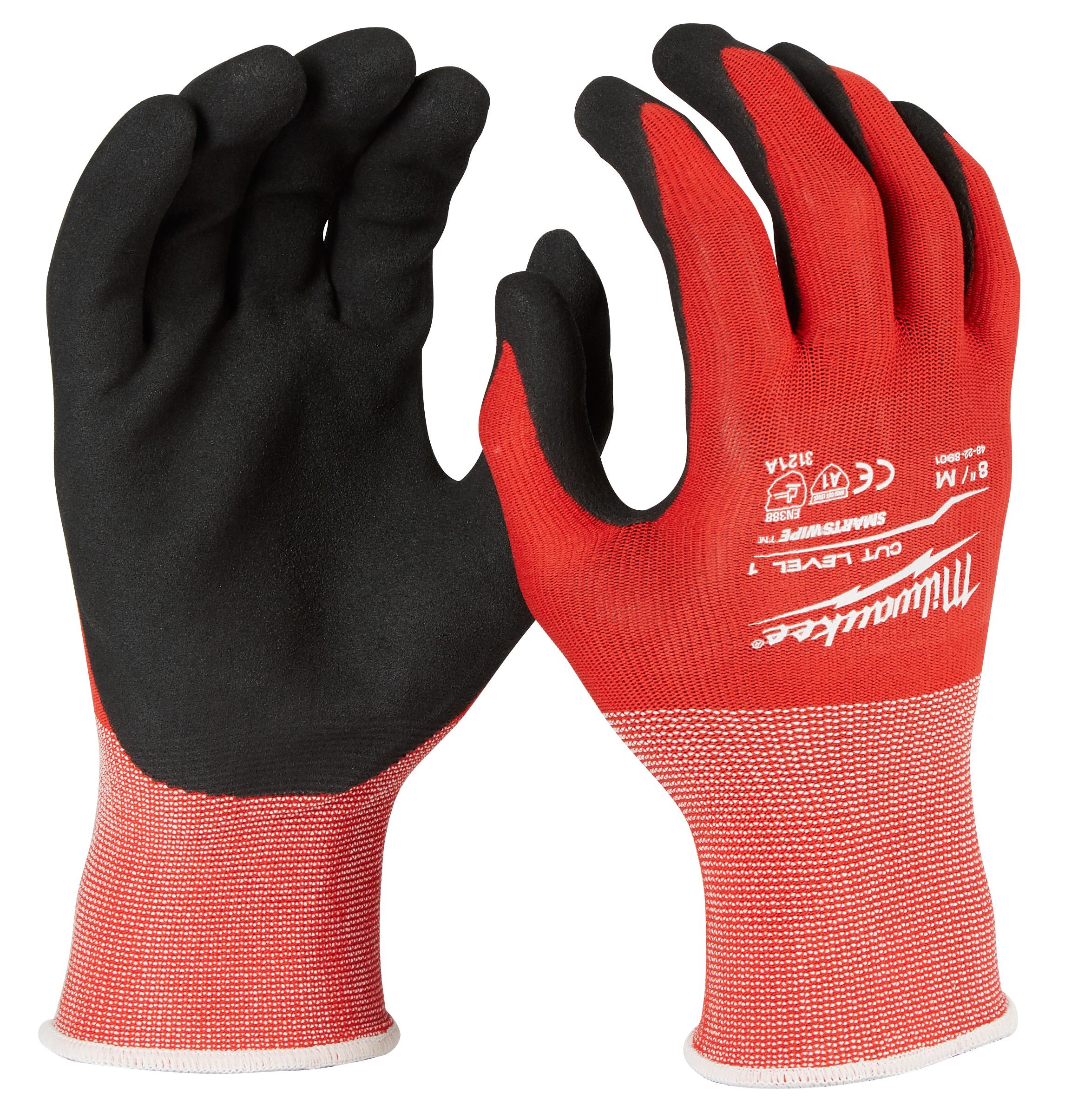 Milwaukee 48-22-8901 Cut 1 Dipped Gloves - M