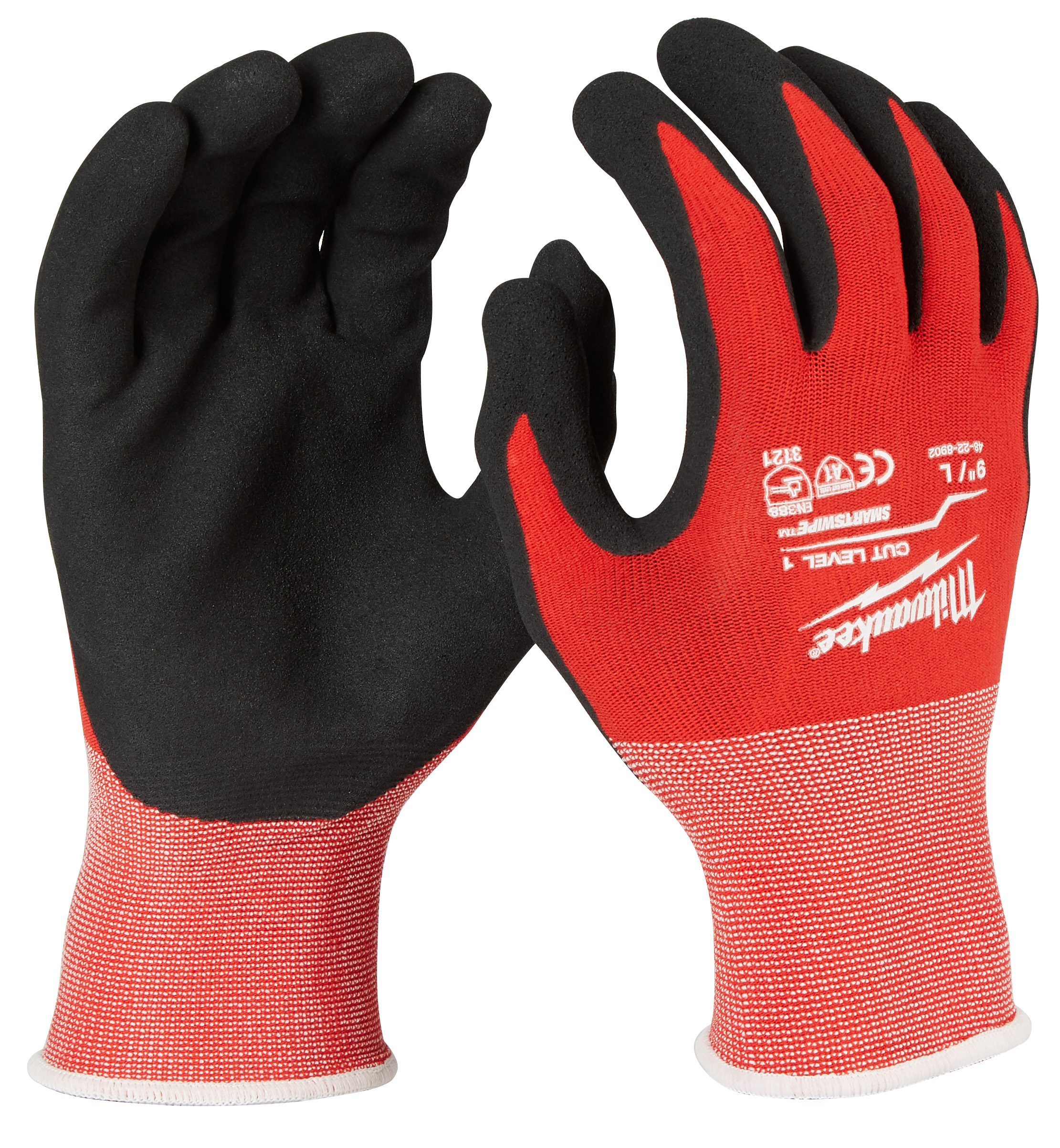 MILWAUKEE 48-22-8902 (6) CUT 1 NITRILE GLOVES - L