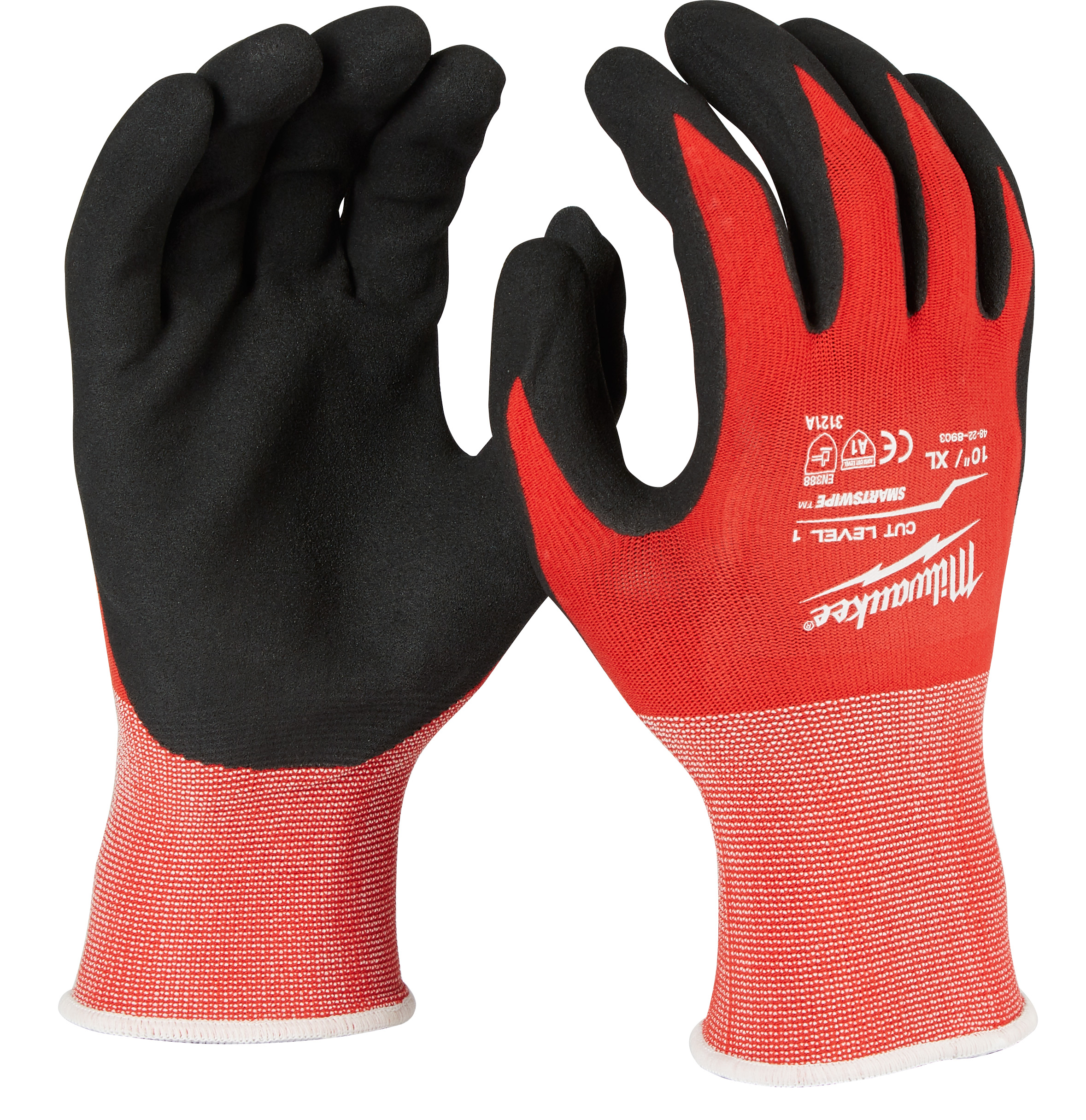 MILWAUKEE 48-22-8903 (6) CUT 1 NITRILE GLOVES - XL