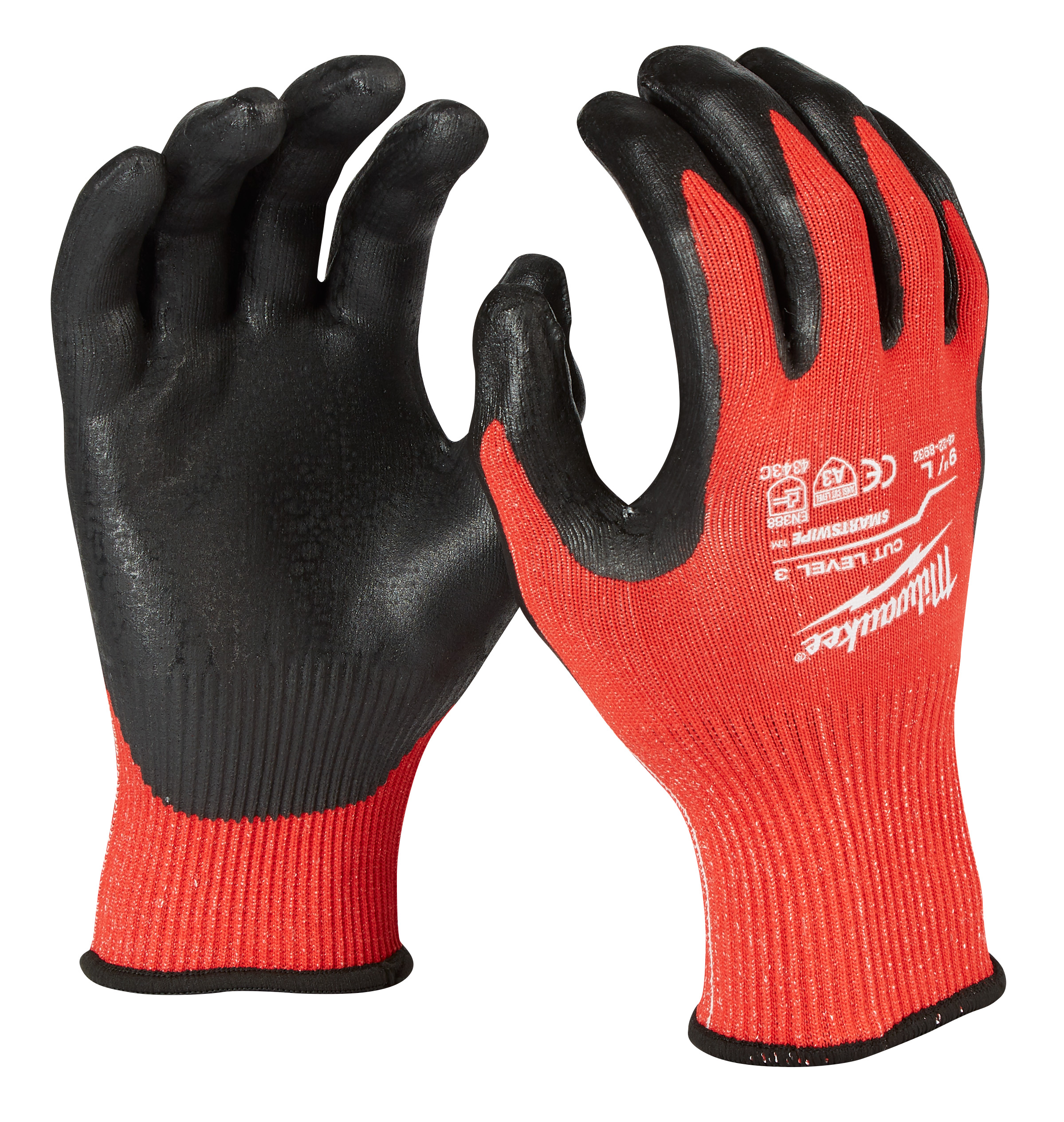 MILWAUKEE 48-22-8932 (6) CUT 3 NITRILE GLOVES - L
