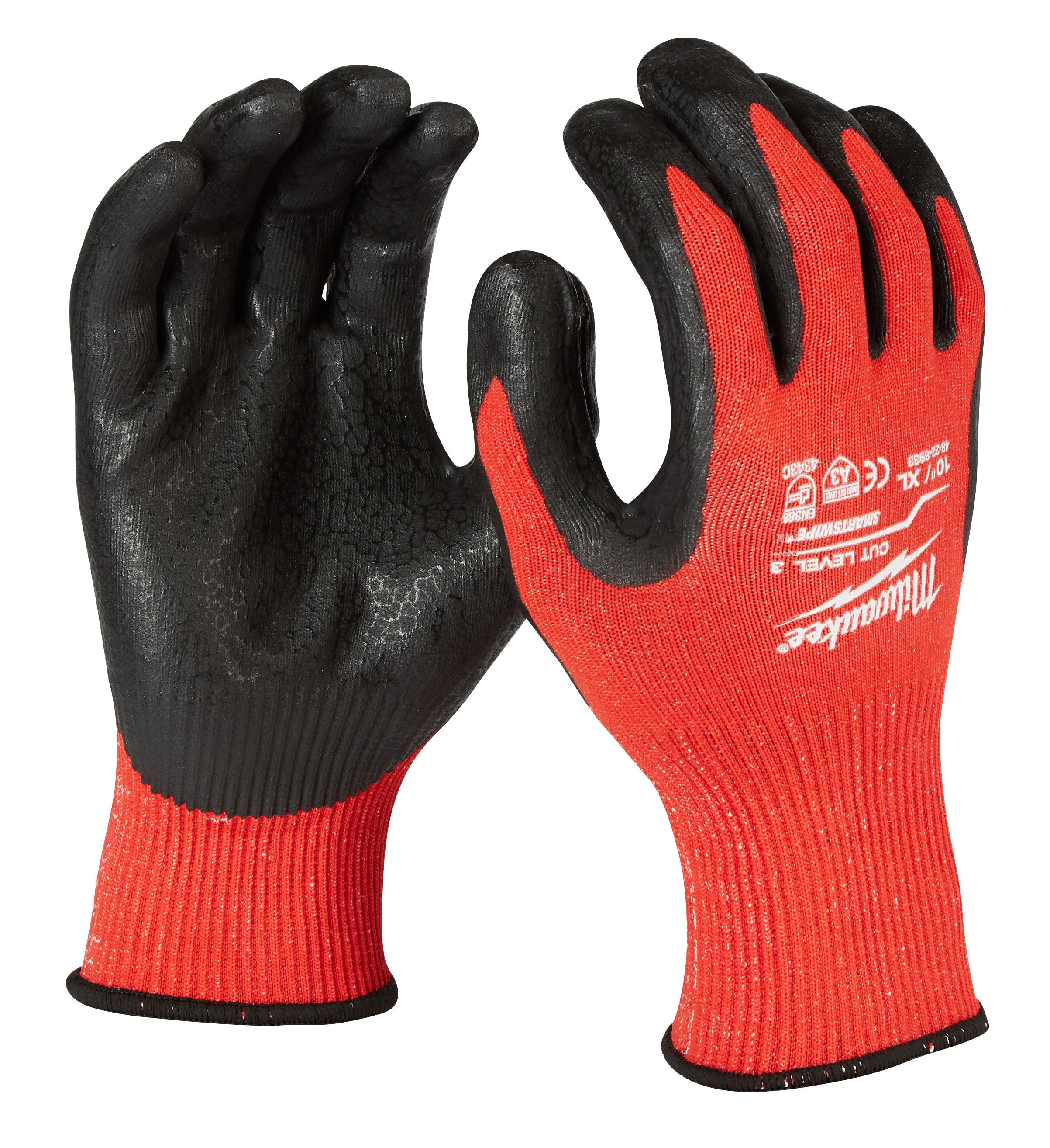 Milwaukee® 48-22-8933 Breathable Unisex Cut-Resistant Gloves, XL, Nylon/Lycra Blend, Knit Cuff, Resists: Cut and Puncture, ANSI Cut-Resistance Level: A3
