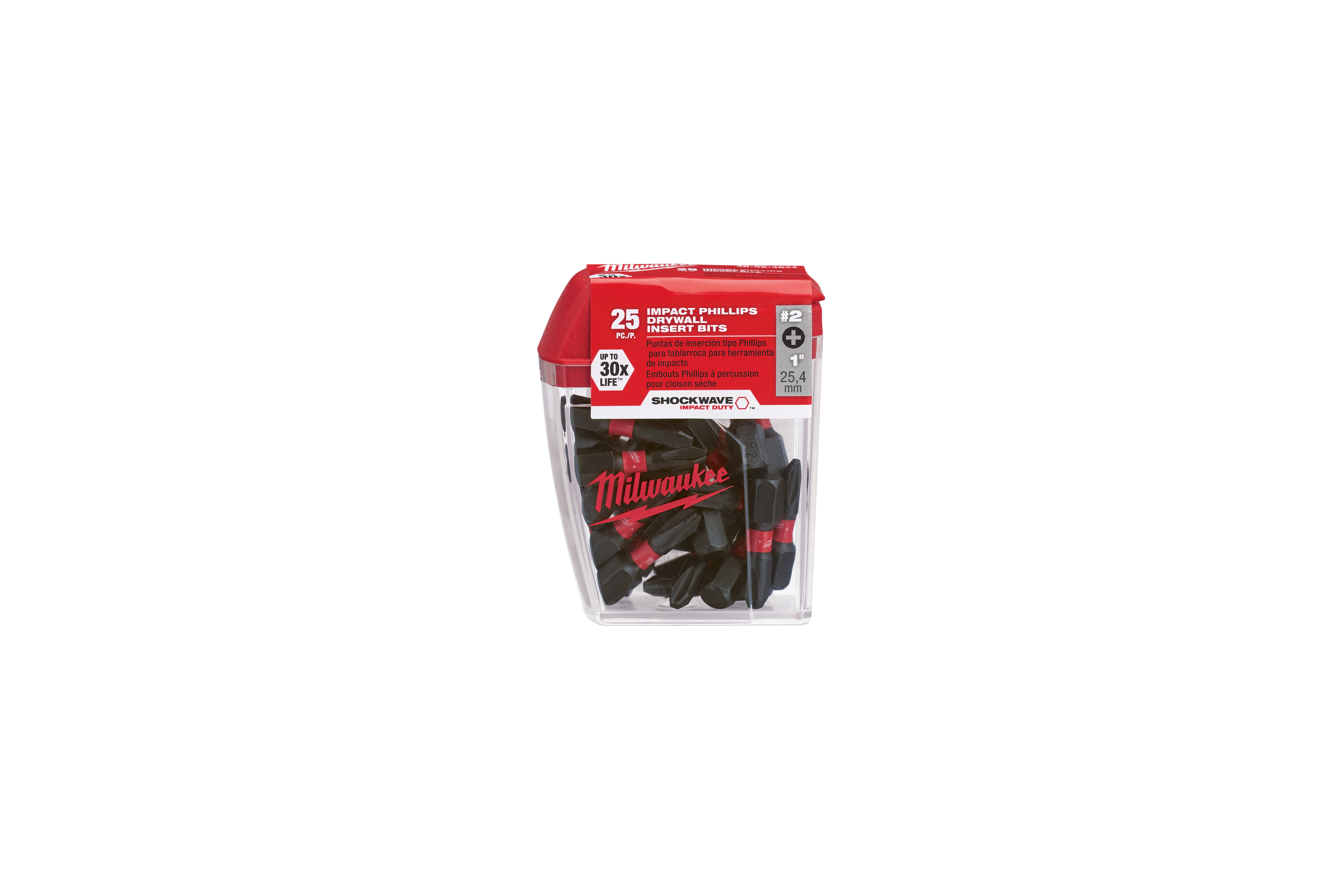Milwaukee® 48-32-4644 SHOCKWAVE™ Single Ended Impact Contractor Pack, 25 Pieces, Hex Drive, PR2 Bit, Steel