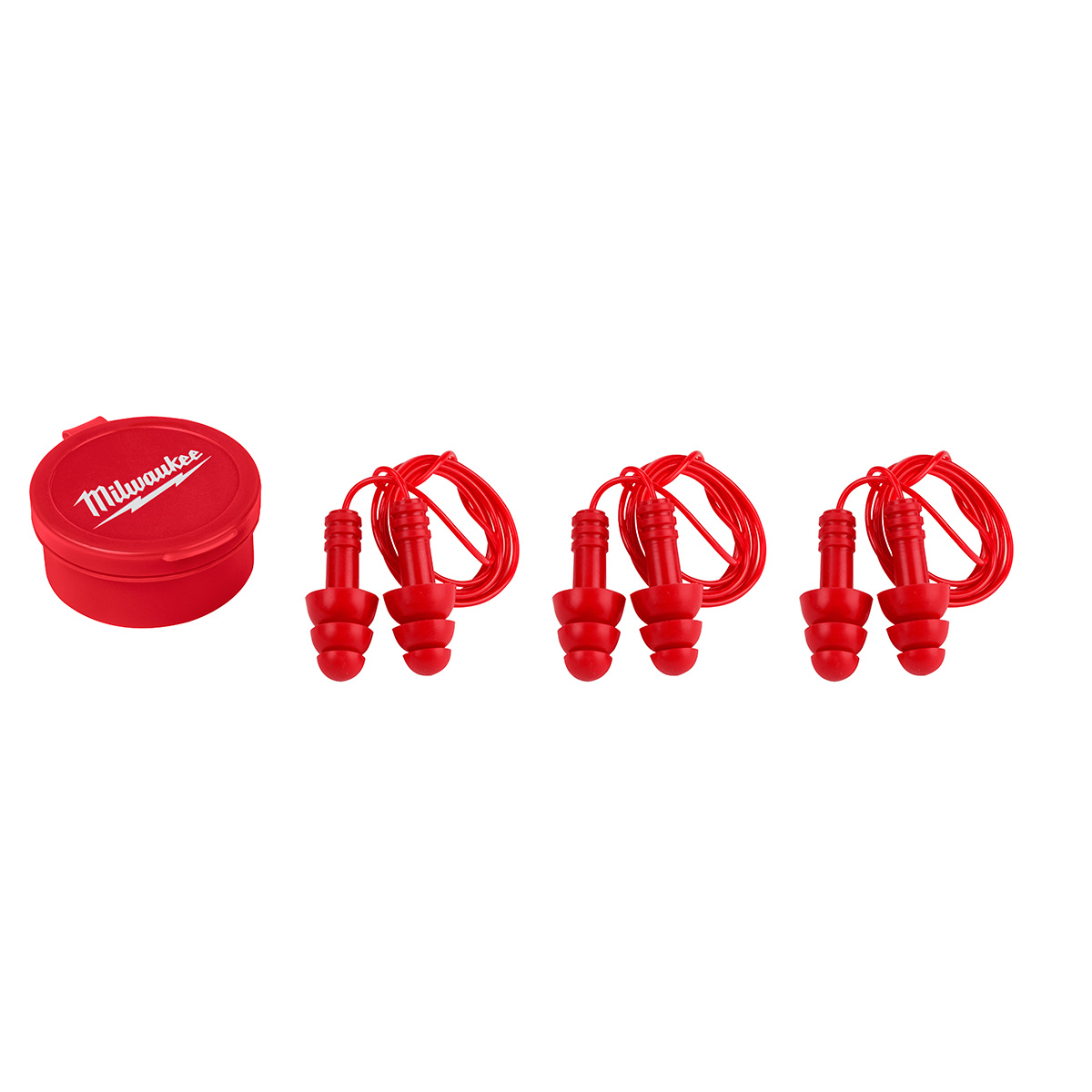 MILWAUKEE 48-73-3151 REUSABLE CORDED EARPLUGS 3 PK