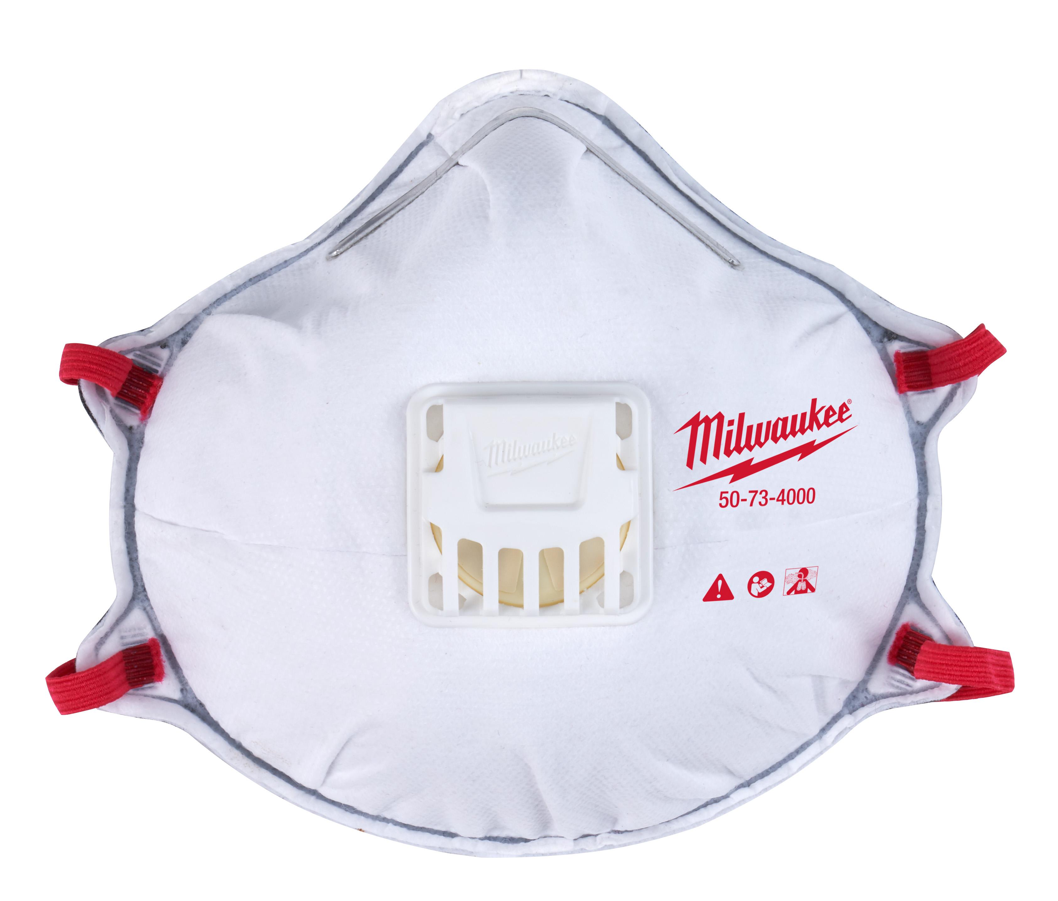 MILWAUKEE 48-73-4001 DISPOSABLE N95 RESPIRATOR W/GASKET