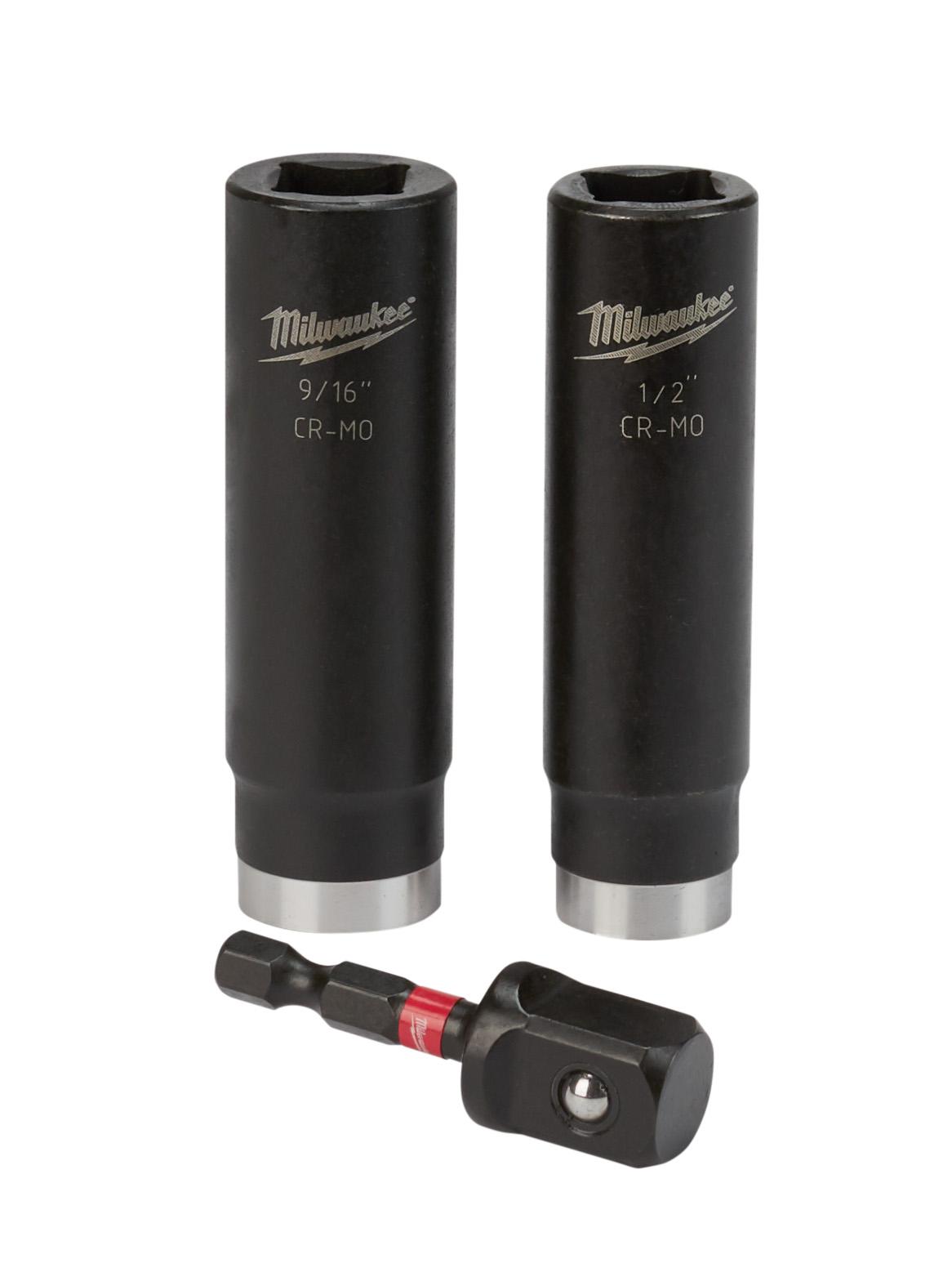 Milwaukee® 49-66-4485 SHOCKWAVE™ Impact Duty Socket Set, 3 Pieces, 1-7/8 in L, Steel