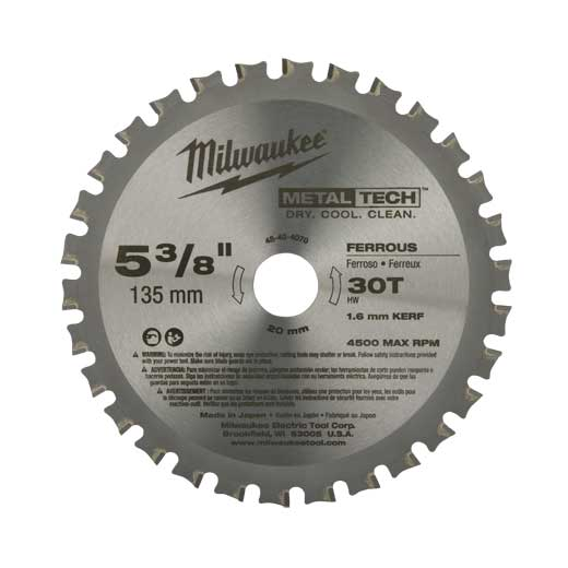 MILW 48-40-4070 CIRC SAW BL 5-3/8 CBD T