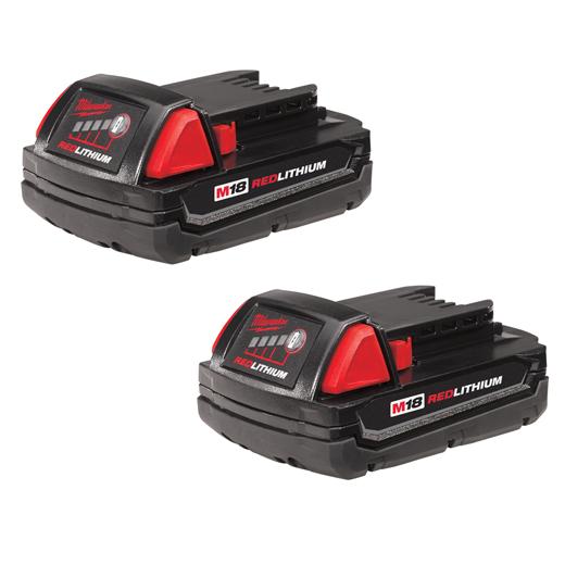 Milwaukee 48-11-1811 M18™ REDLITHIUM™ 1.5Ah Compact Battery (2 Piece)