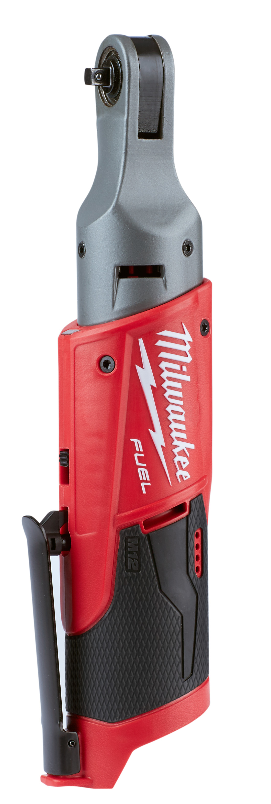 Milwaukee® M12 FUEL™ 2556-20 Cordless Ratchet, 1/4 in Drive, 40 ft-lb, 0 to 250 rpm, 12 VDC, Lithium-Ion Battery, 3.65 in OAL