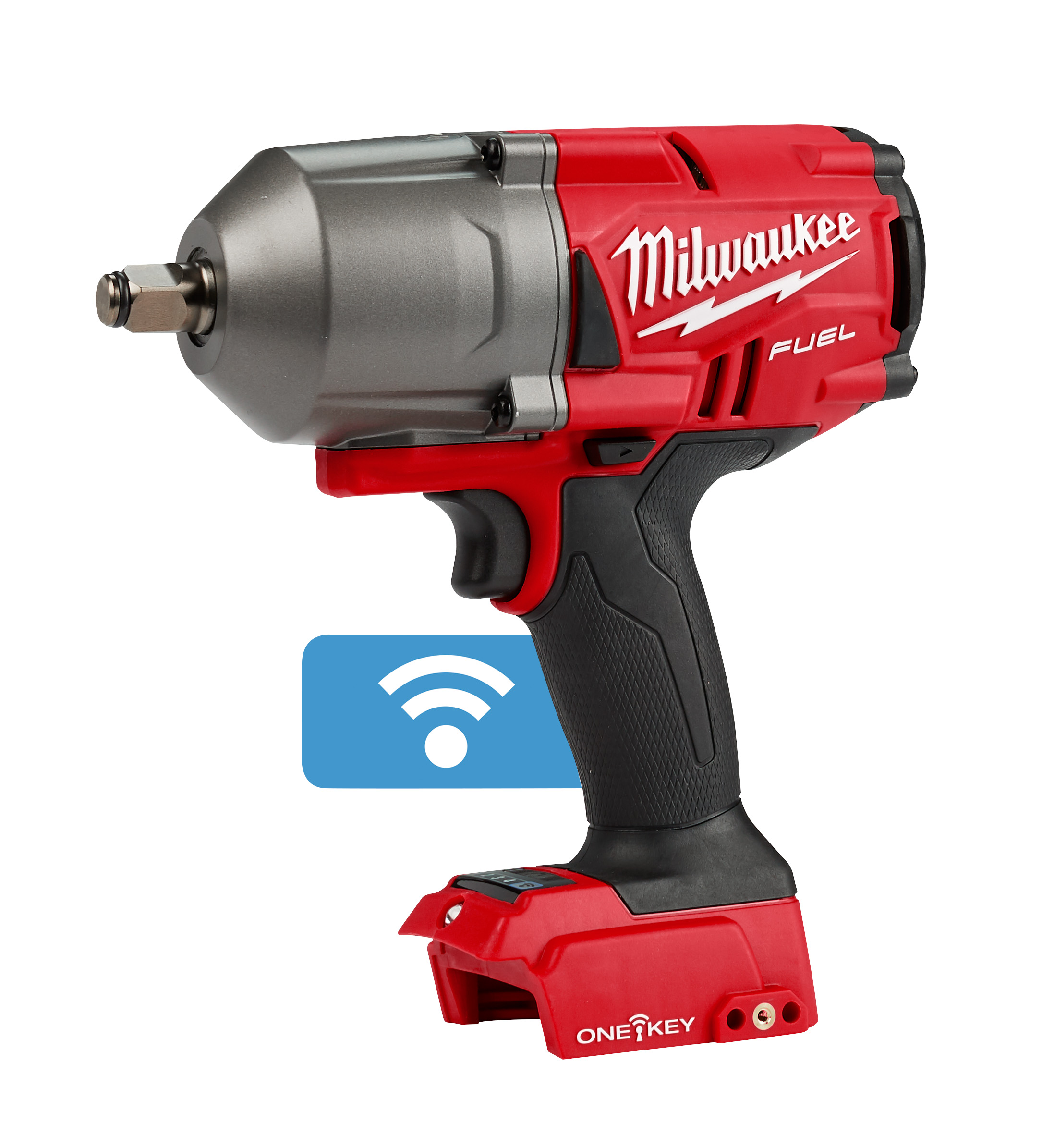 Milwaukee® M18™ FUEL™ ONE-KEY® 2863-20 Cordless High Torque Impact Wrench With 1/2 in Friction Ring, 1/2 in 4-Mode Straight Drive, 2100 bpm, 1000/1400 ft-lb Torque, 18 VDC, 8.39 in OAL