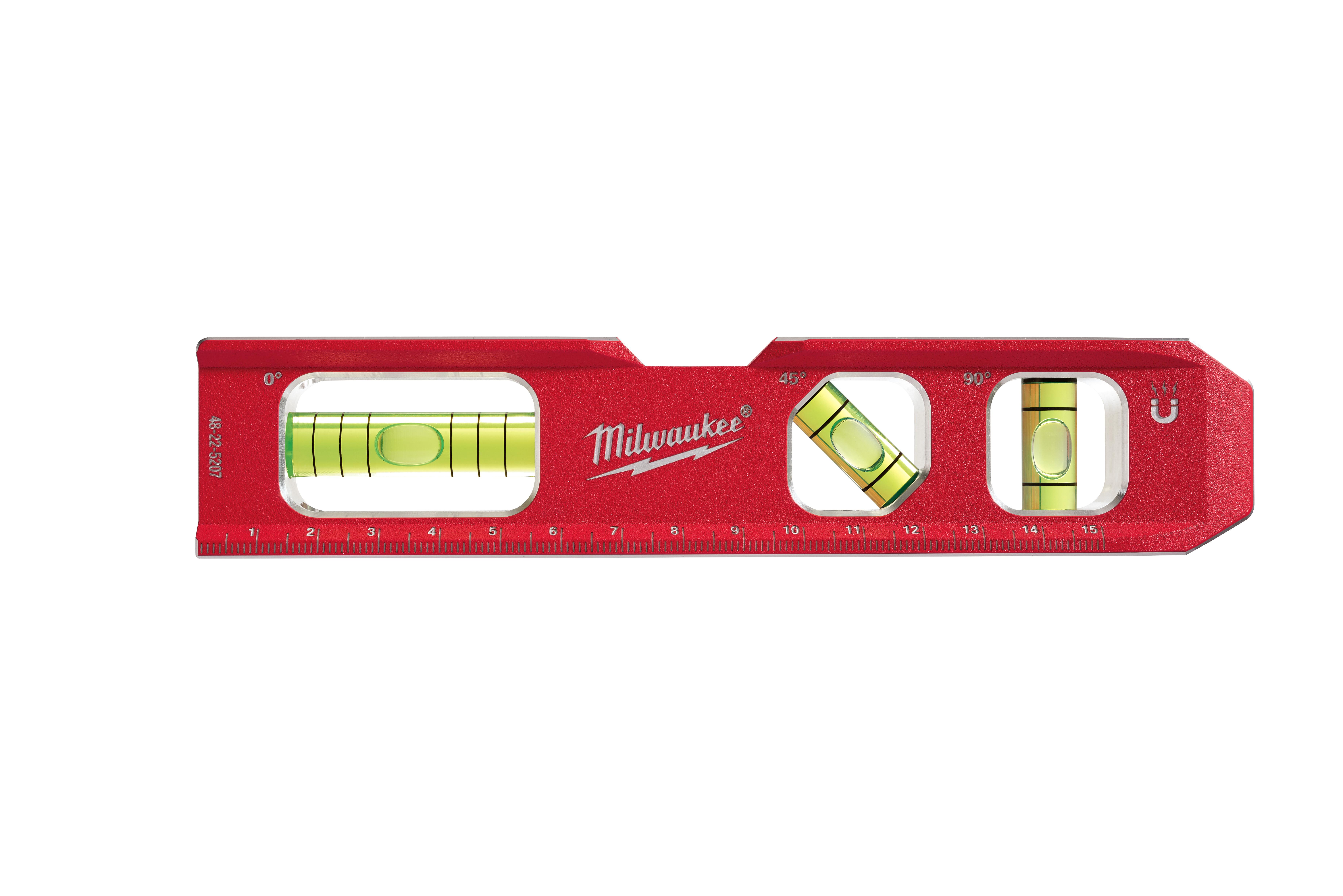 Milwaukee® 48-22-5207 Billet Compact Torpedo Level, 7 in L, 3 Vials, Plastic
