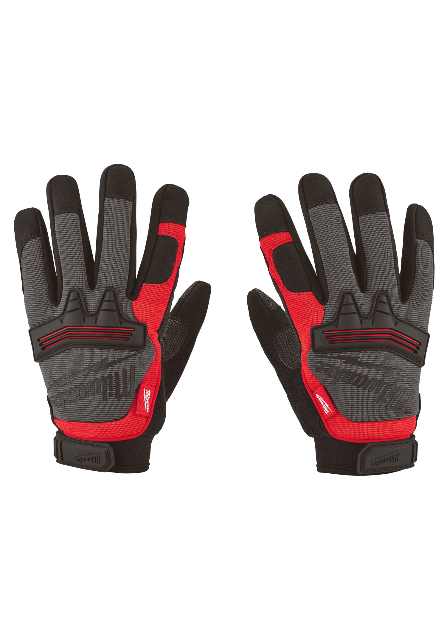 Milwaukee® 48-22-8735 Demolition Fingerless General Purpose Work Gloves, S, Black/Red, Synthetic Leather