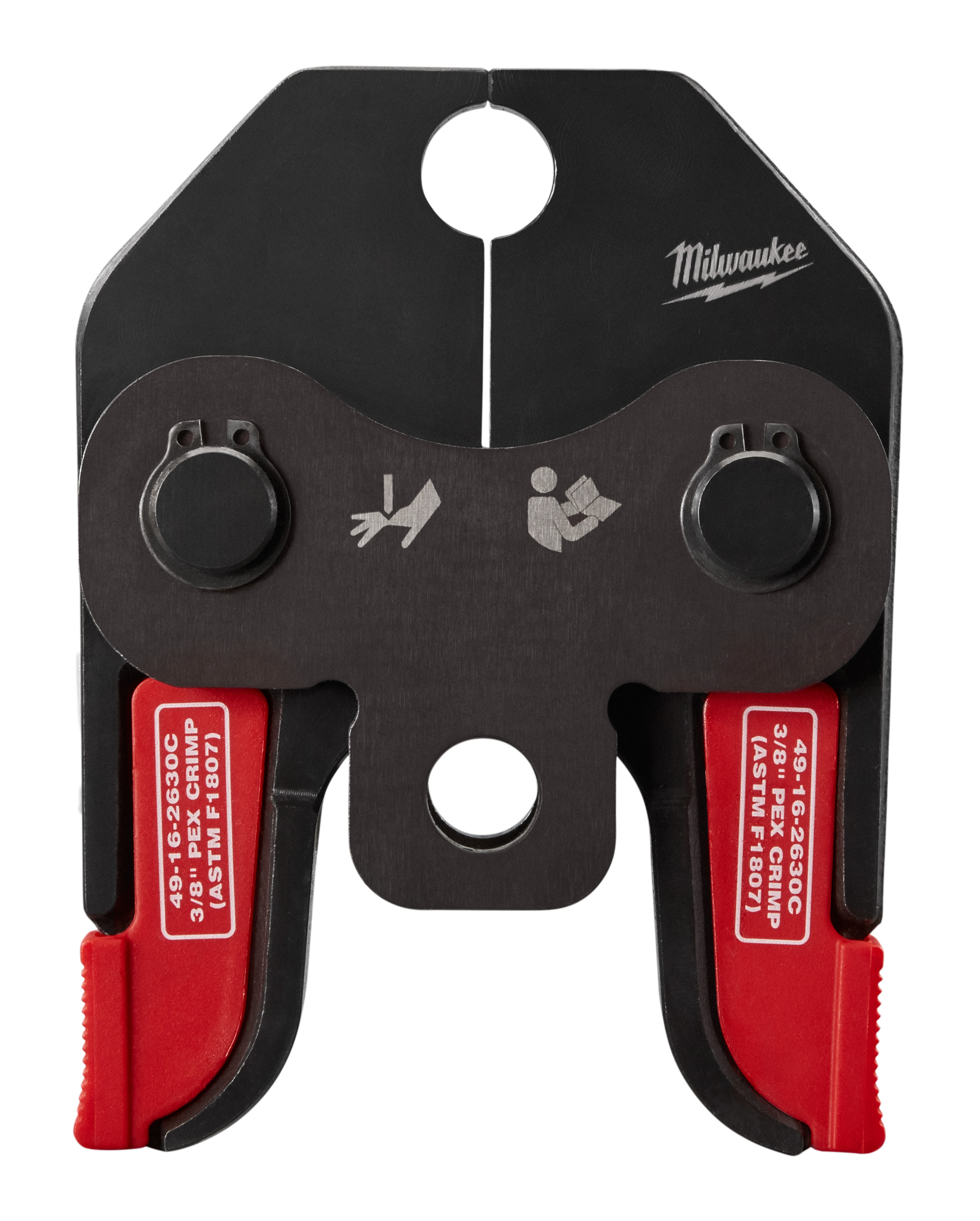 Milwaukee® 49-16-2630C PEX Crimp Jaw, For Use With M18™ Short Throw Press Tool, F1807, F2159 Fitting System, PEX Pipe/Tubing Material, 3/8 in Jaw Capacity, Steel