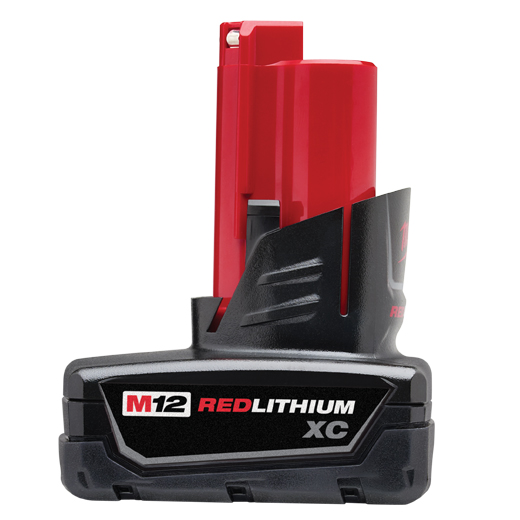 Milwaukee,48-11-2402,Milwaukee® M12™ Rechargeable Cordless Battery Pack, 3 Ah Li-Ion Battery, 12 V (Bare Tool)