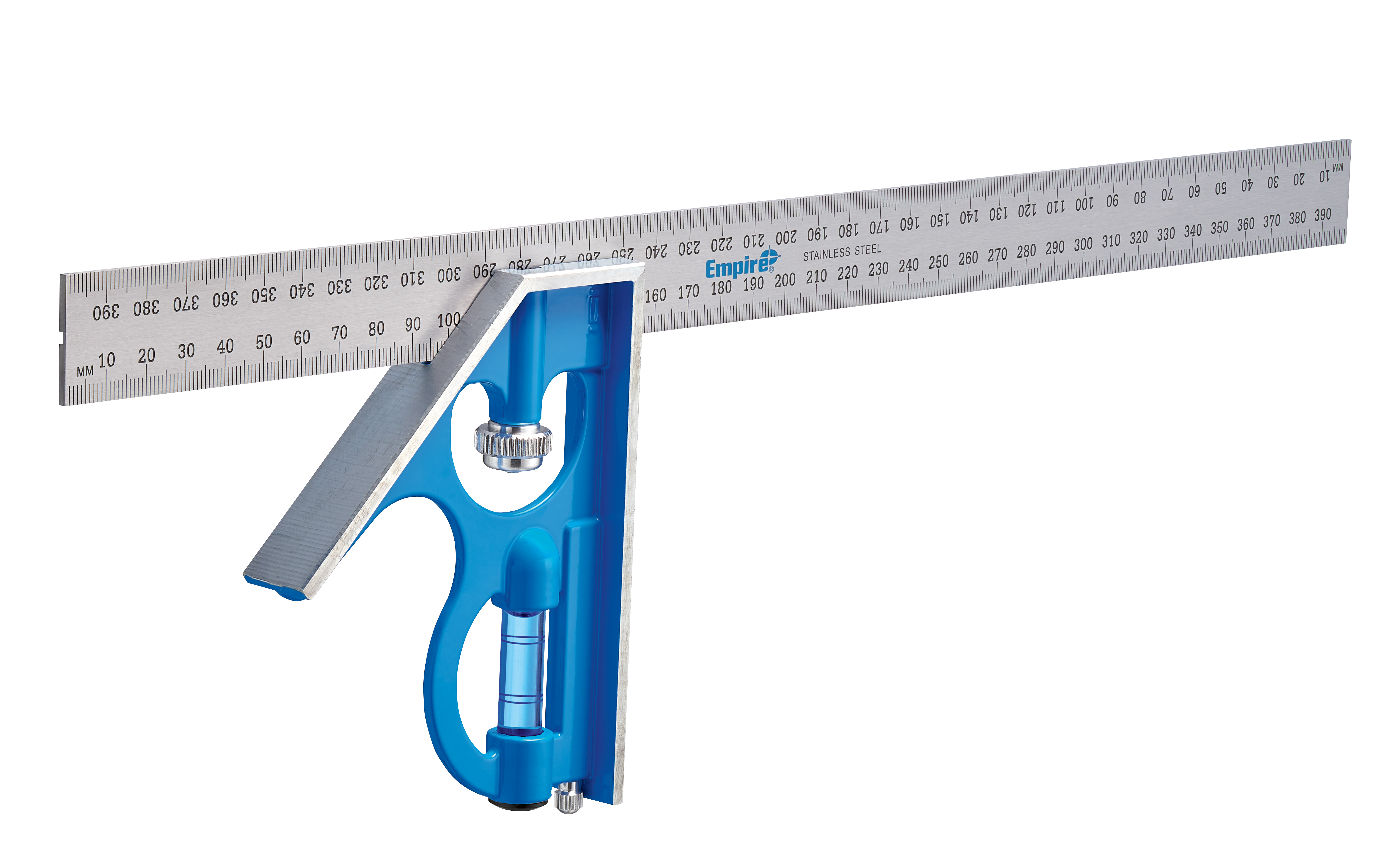 Empire® TRUE BLUE® E280M Heavy Duty Professional Combination Square, 40 cm L x 5.31 in W, Stainless Steel Blade