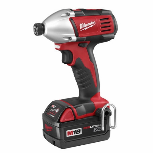 Milwaukee® M18™ Compact Cordless Impact Driver Kit, 1/4 in Hex Drive, 0 - 3200 ipm, 1400 in-lb Torque, 18 V (Kit)