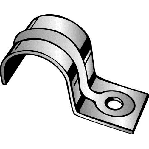 Minerallac® 145 1-Hole Jiffy Clip, For Use With 3/4 in EMT Conduit/SER Cable 1 and 1/0, Steel, Pre-Galvanized