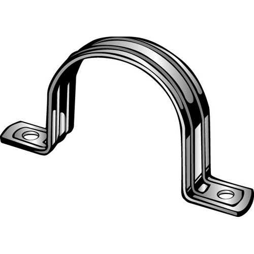Minerallac® 255 2-Hole Conduit Strap, 1 in, For Use With EMT Conduit, Steel, Pre-Galvanized