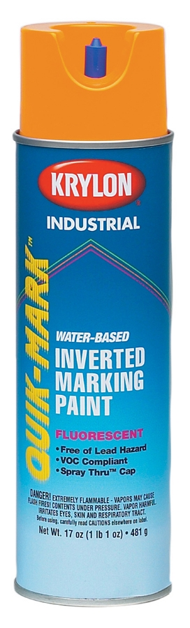 Minerallac,37460,Cully™ Quik-Mark™ 37460 Heavy Duty Marking Paint, 20 oz, Fluorescent Orange, <10 min Curing