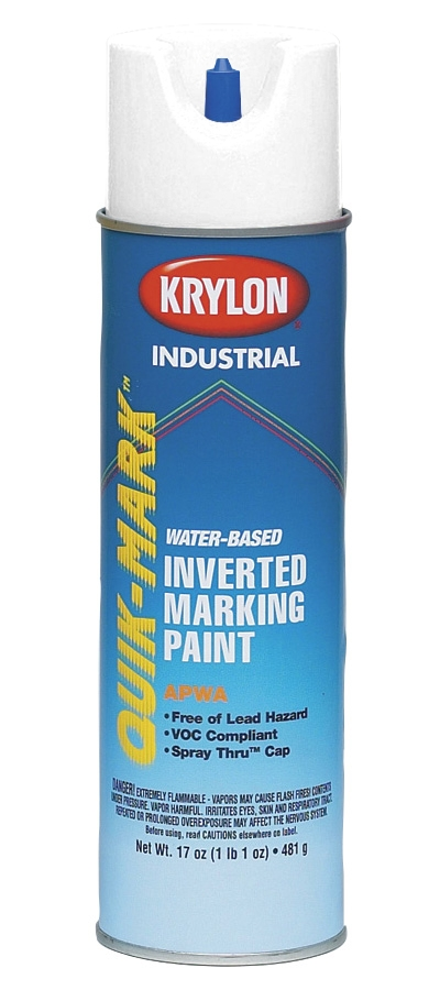 Minerallac,37461,Cully™ Quik-Mark™ 37461 Heavy Duty Marking Paint, 20 oz, APWA Brilliant White, <10 min Curing