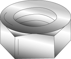 CUL 40135 3/8-16 STEEL HEX NUT