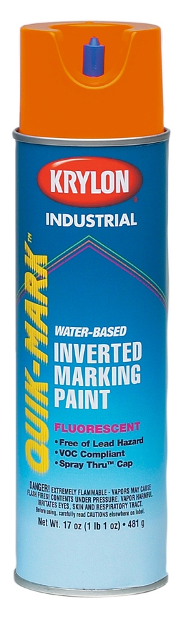 CUL 37463 FLUOR RED/OR INVERT PAINT WATER BASED