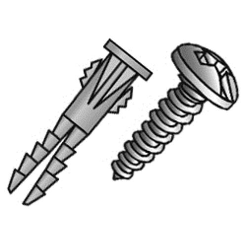 CUL 39763 #10 COMBO YELLOW ANCHOR JAR 10X1 SCREW PLASTIC ANCHOR 1/4