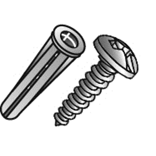 CUL 39820 * #10 PHIL/SLOT PLASTIC ANCHOR KIT 10X1 SCREW PLASTIC ANCHOR 1/4