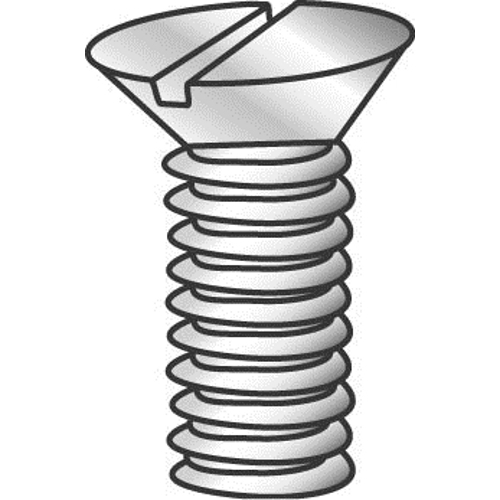Minerallac 50324J #8-32 x 1-1/2 Inch Zinc Plated Steel Slotted Drive Flat Head Machine Screw
