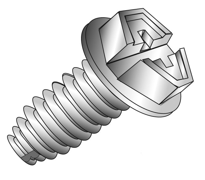 Minerallac,80006,Cully™ 80006 Grounding Screw, NO 10-32 Screw, 3/8 in OAL, Phillips/Slotted Drive