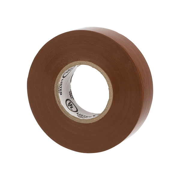 NSI WW-732-1 Warrior Wrap Brown 7mil Premium Vinyl Electrical Tape
