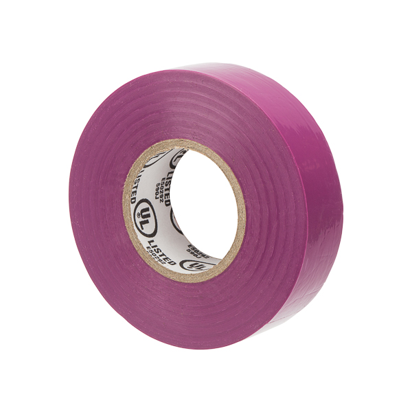 NSI WW-732-7 Warrior Wrap Purple 7mil Premium Vinyl Electrical Tape