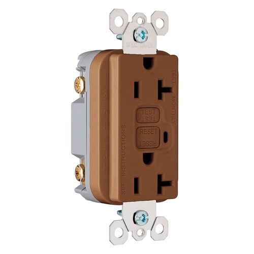 P&S 2095 GFI RECP BRN 20A 120V BROWN GFCI RECEPTACLE