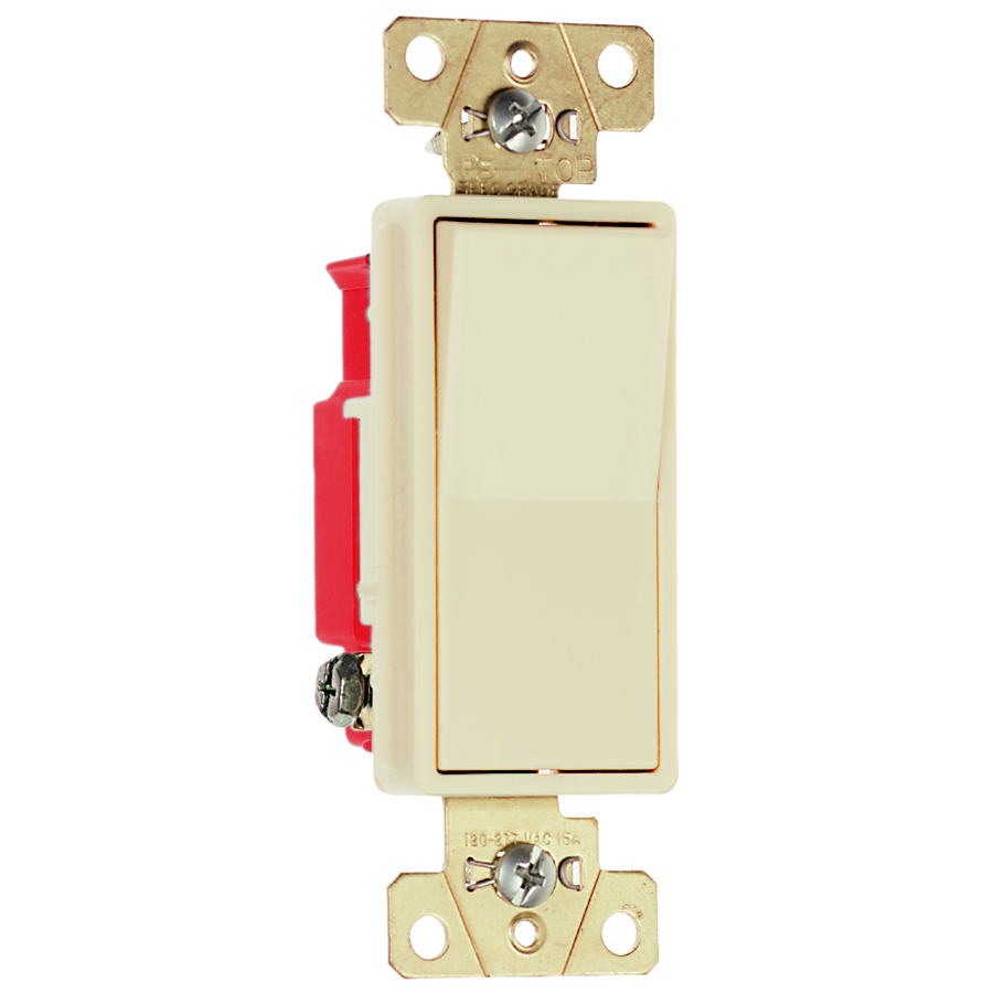 Pass & Seymour 2623-I Three-Way, Back And Side Wire, Decorator Switch, 20 Amps, 120/277 Volts, Ivory.