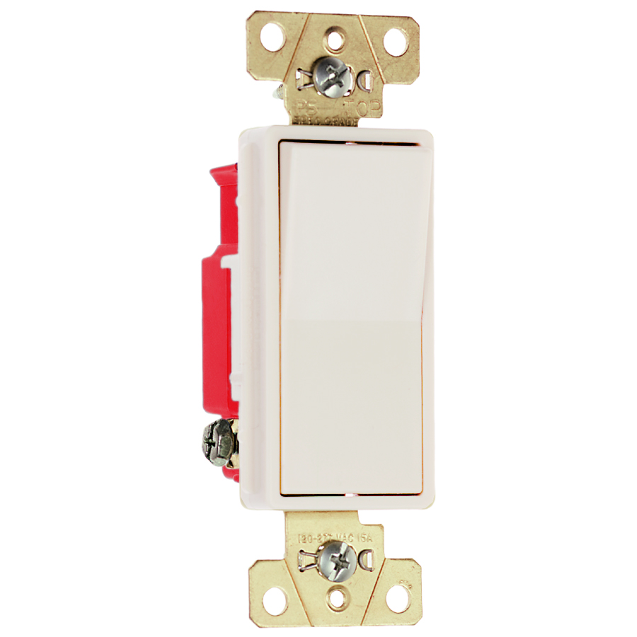 Pass & Seymour 2623-LA Three-way, Back and Side Wire, Decorator Switch, 20 amps, 120/277V - Light Almond