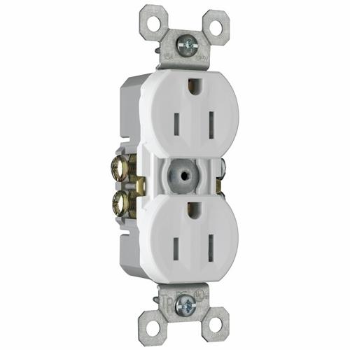 PS 3232-TRW Tamper-Resistant,Duplex Grounding Receptacle. 15Amp, 125 Volt, White