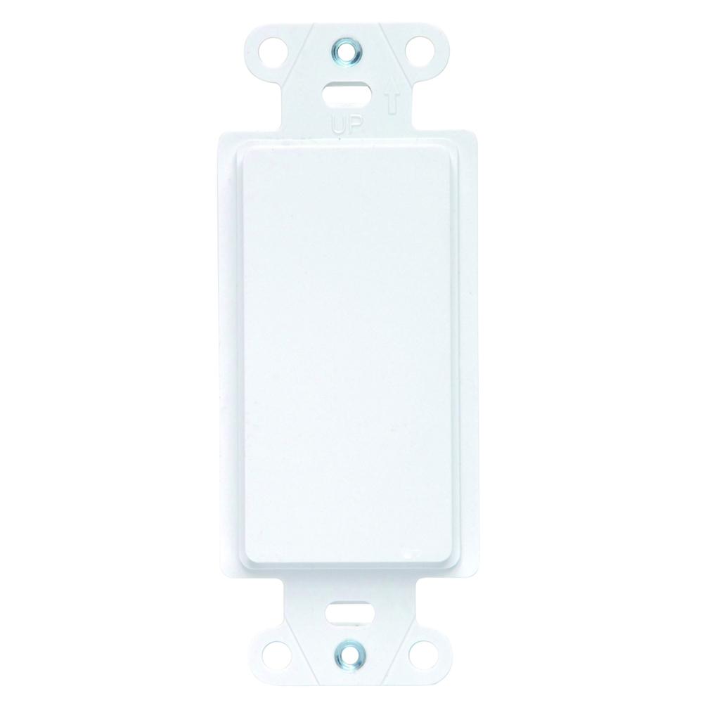 PS 325-W Mounting Strap PlasticDecora Blank Insert White
