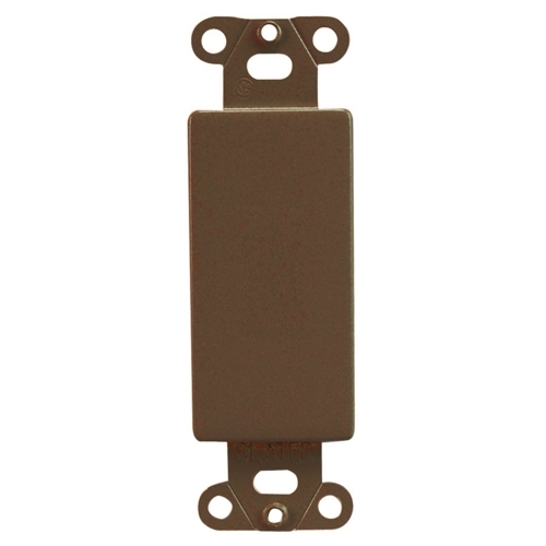 Pass & Seymour 326 Mounting Strap, Blank Insert, Brown