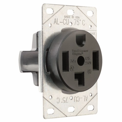 Pass & Seymour 3864 30Amp 125/250V, Blade Receptacle, 3Pole 4Wire, Grounding