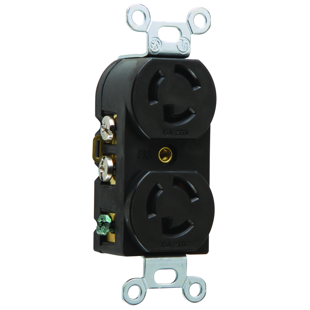 Pass & Seymour 4750 Turnlok® Duplex Receptacle, 15A 277V