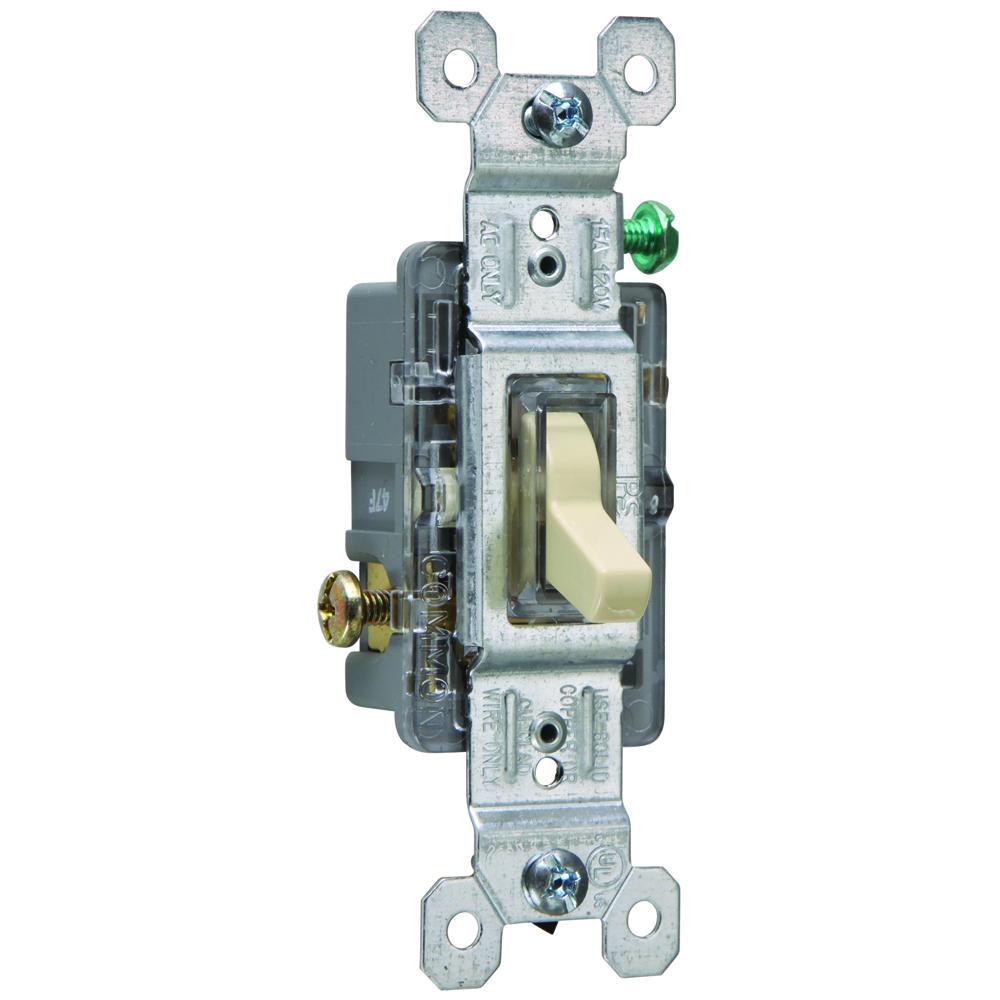Pass & Seymour 660-ISLG Single Pole Lighted Toggle Switch, Ivory