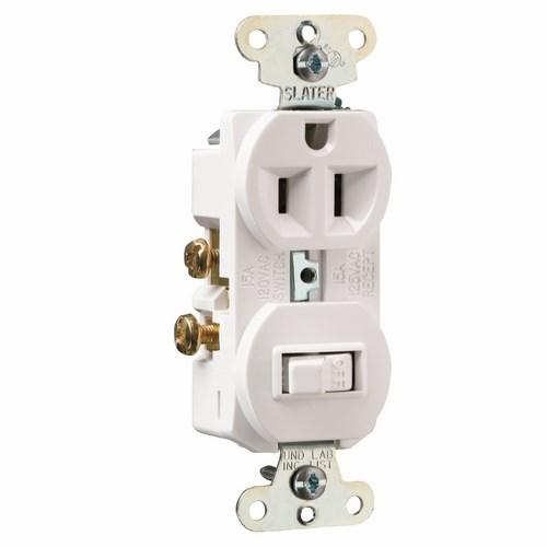 Pass & Seymour 691-W Single Pole, Single Switch Combination, 15 amps, 120/125V - White