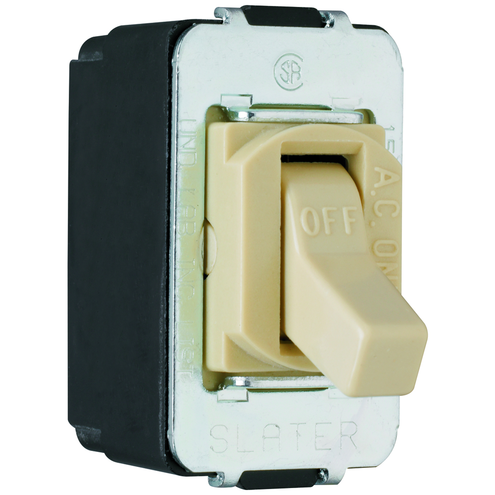 Pass & Seymour ACD1-I Special Purpose Devices - Despard Toggle Switch Screw Terminal, Single Pole 15A 120/277V, Ivory