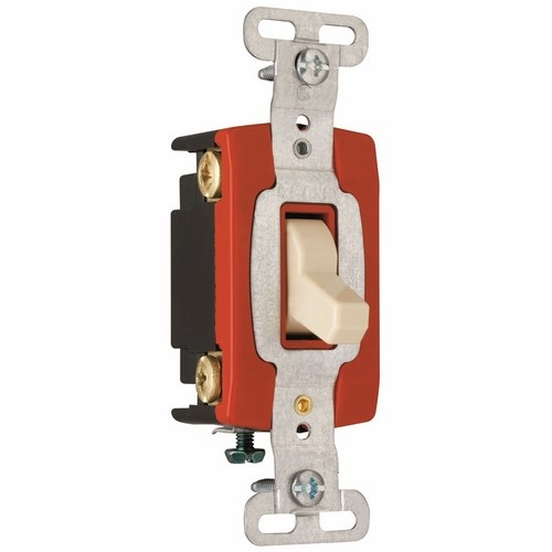 Pass & Seymour CSB20AC4-I Construction 4Way Switch, Back & Side Wire, 20Amp 120/277Volt, Ivory